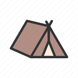 camp, camping, home, nature, recreation, summer, tent icon