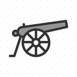 army, cannon, canon, gun, old, war, weapon icon