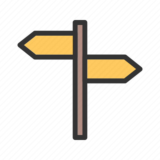 Board, direction, post, road, sign, traffic, travel icon - Download on Iconfinder