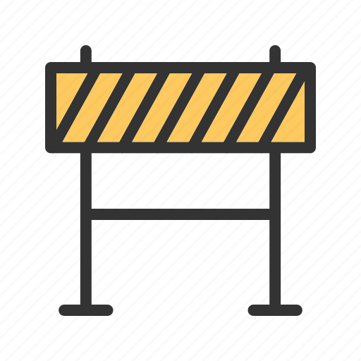 barricade, construction, hazard, road, sign, striped, warning icon