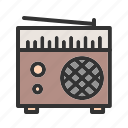 old, radio, speaker, station, style, tuner, white
