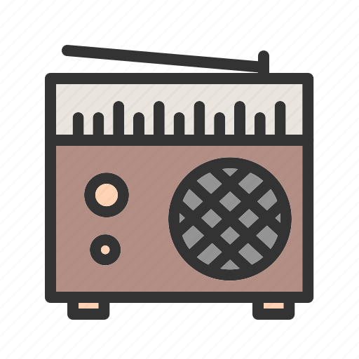 old, radio, speaker, station, style, tuner, white icon