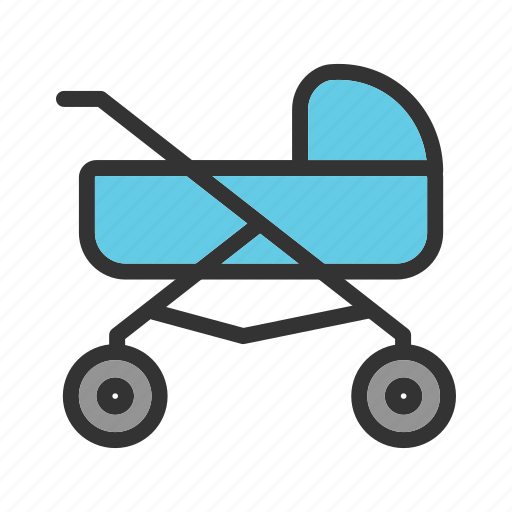 Baby, cute, doll, girl, outdoor, playing, stroller icon - Download on Iconfinder