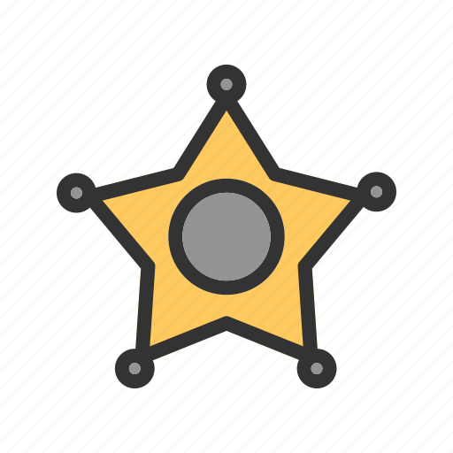 badge, cowboy, police, sheriff, sheriffs, sign, star icon