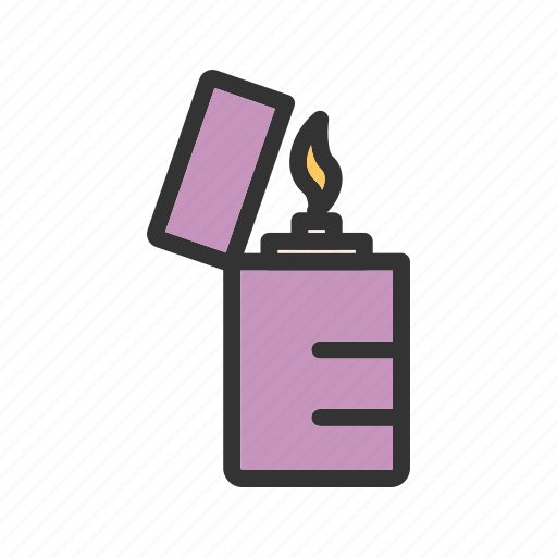 Equipment, fire, flame, light, lighter, metal, object icon - Download on Iconfinder