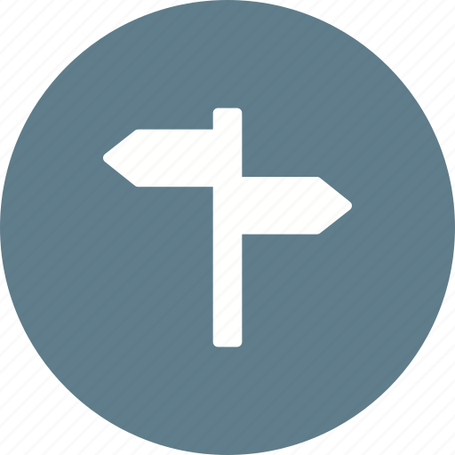 board, direction, post, road, sign, traffic, travel icon