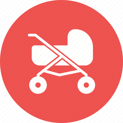 baby, cute, doll, girl, outdoor, playing, stroller icon