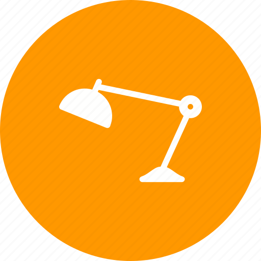 computer, desk, equipment, furniture, lamp, office, table icon