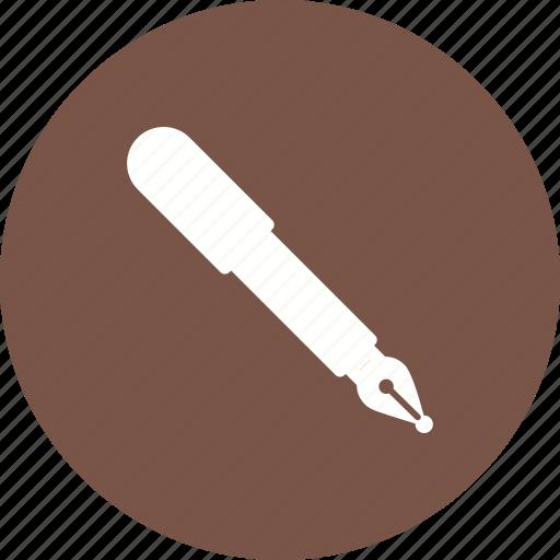 art, business, design, fountain, ink, pen, signature icon