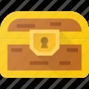 box, chest, pirate, treasure, value icon