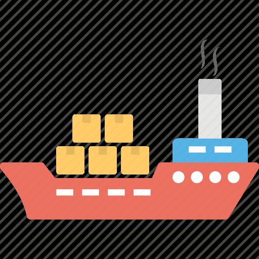 cargo ship, containers ship, freight ship, shipment, shipping icon