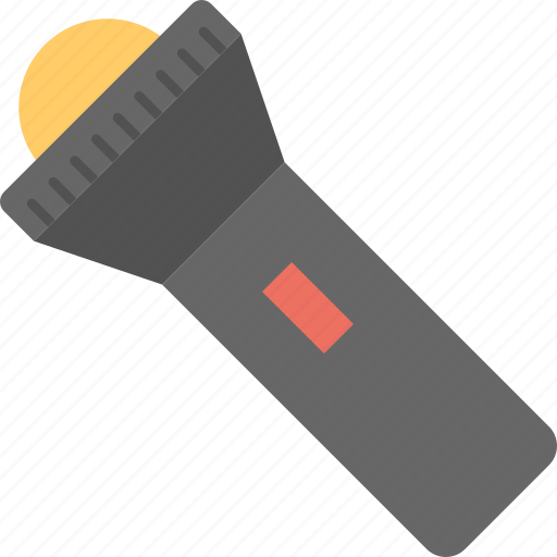 flashlight, hand torch, pocket torch, searchlight, torch icon
