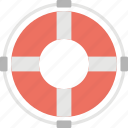 life preserver, life ring, lifebuoy, lifeguard, lifesaver