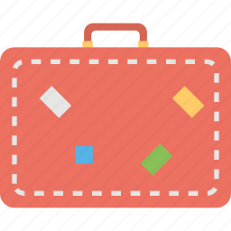 briefcase, luggage, suitcase, traveling bag, traveling case icon