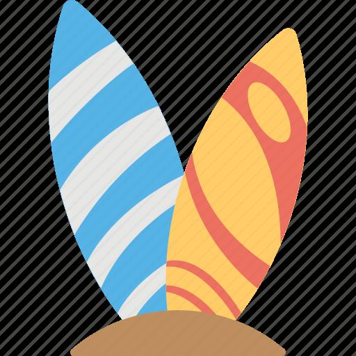 beach surfboard, seaside, surfboard, surfboard on beach, surfing beach icon