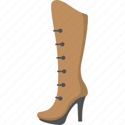 boot, cowgirl boot, female boot, female long boot, shoe icon