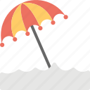 beach umbrella, holiday, seashore umbrella, seaside, summer beach icon