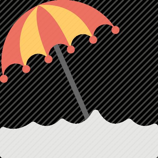 beach umbrella, holiday, seashore umbrella, seaside, summer beach icon