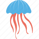 fish, jellyfish, marine creature, sea animal, sea life icon