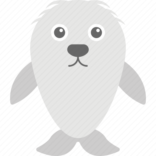 cartoon harbor seal, harbor seal, sea animal, sea life, wildlife icon