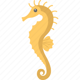 fish, sea animal, sea life, seahorse, wild animal icon