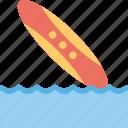 surfboard on beach, surfing beach, seaside, surfboard, beach surfboard icon