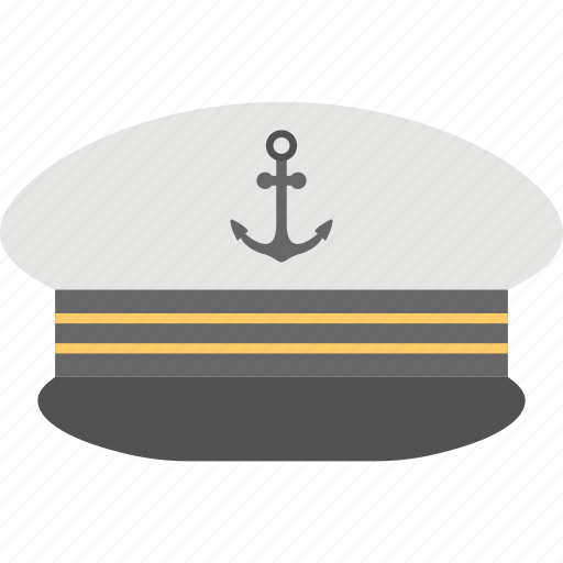 captain cap, navy captain hat, ship captain cap, yacht captain cap icon