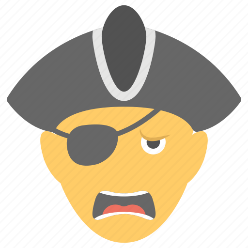 piracy, pirate, pirate head, robber, thief icon