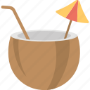 coconut drink, coconut water, healthy drink, natural drink, tropical drink icon