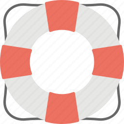 life preserver, life ring, lifebuoy, lifeguard, lifesaver icon