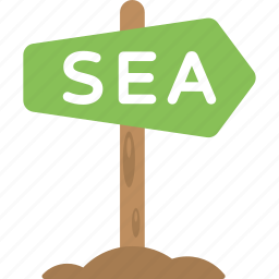 arrow hint, directional sign, sea signboard, signboard, wooden signboard icon