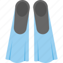 diving equipments, diving fins, scuba fins, swimming fins, swimming flippers icon