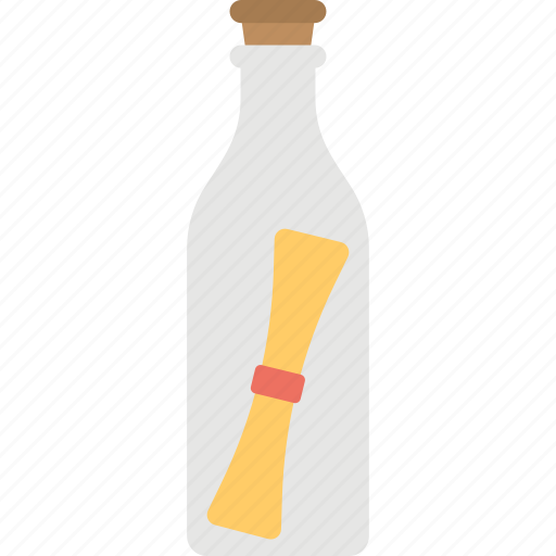 creativity, message bottle, message cork bottle, message in bottle, party invitation icon