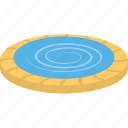 inground pool, outdoor swimming pool, round swimming pool, small swimming pool, swimming pool icon