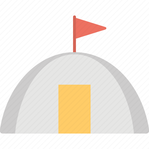 igloo, igloo with flag, snow house, snow hut, snow shelter icon