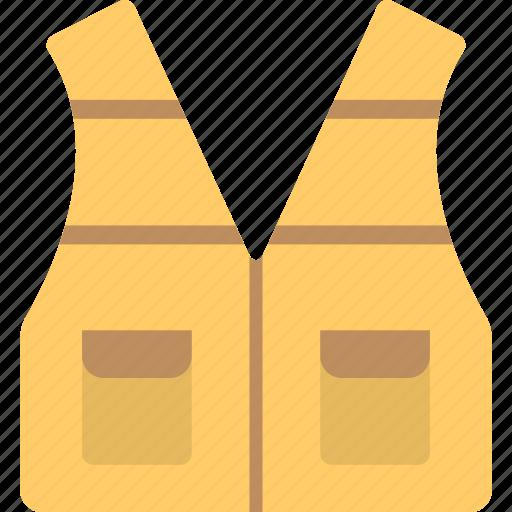 life vest, safety jacket, safety vest, warning safety vest, workwear jacket icon
