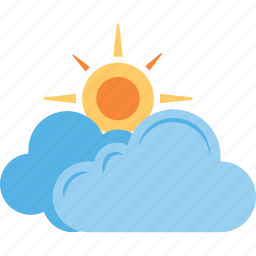 pleasant weather, sun cloud, sun with cloud, weather, weather forecast icon