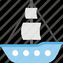boat, sailboat, ship, water craft, yacht