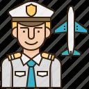 avatar, captain, plane, policeman, uniform