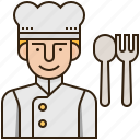 chef, cook, cuisine, gourmet, kitchen icon