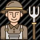 agriculture, avatar, farmer, farming, worker icon