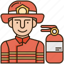 emergency, firefighter, fireman, protection, rescue