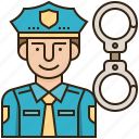 crime, law, police, policeman, security icon