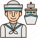 marine, navy, sailboat, sailor, ship icon