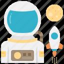 astronaut, astronomy, cosmonaut, spaceman, universe icon