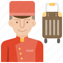 bellboy, bellhop, hotel, service, uniform