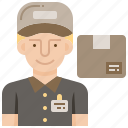 avatar, deliverymen, logistic, postman, service icon