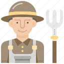 agriculture, avatar, farmer, farming, worker icon