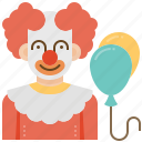 circus, clown, fool, jester, joker icon