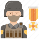 army, combat, military, soldier, weapon icon